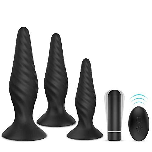 3. Juego de plugs anales con vibradores de bala para principiantes y experimentados