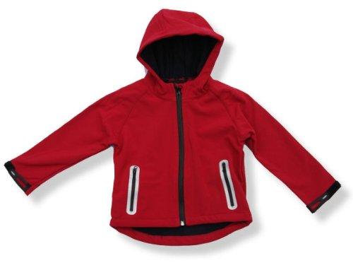 BMS Softshelljacke für Kinder und Jugendliche in Rot - Outdoorjacke - Windjacke - Strandjacke -077300 (134)