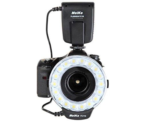 Makro Ringblitz Ringleuchte für Nikon DSLR Kameras von Meike