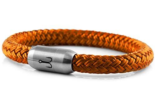 Fischers Fritze Armband Segeltau Makrele Orange - Handgemacht im Geschenkkarton I Maritim & Wasserfest, 19.0