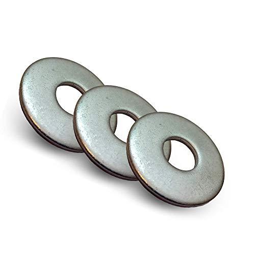Stahlhelden ® 10 Stück - M6 Große Unterlegscheiben 18mm - Edelstahl A2 - aus hochwertigen A2 Edelstahl - Beilagscheibe nach DIN 9021 / ISO 7093 Standard (10 Stück)