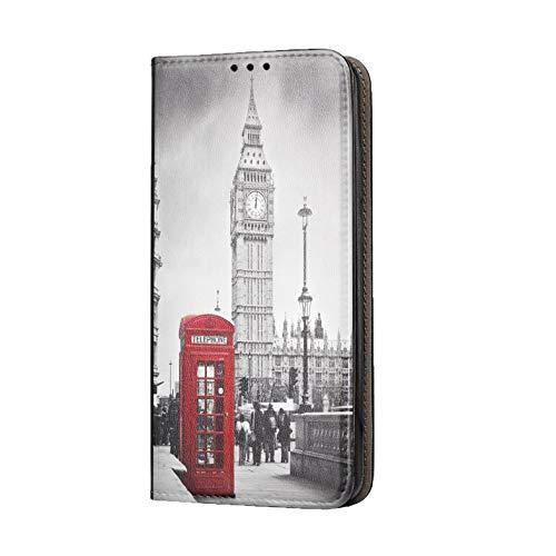 KX-Mobile Hülle für iPhone 7/8 / SE 2020 Handyhülle Motiv 1103 London Big Ben England Rot Grau Premium Smart aus Kunstleder einseitig Bedruckt HandyCover Handyhülle für iPhone 7/8 / SE 2020 Hülle