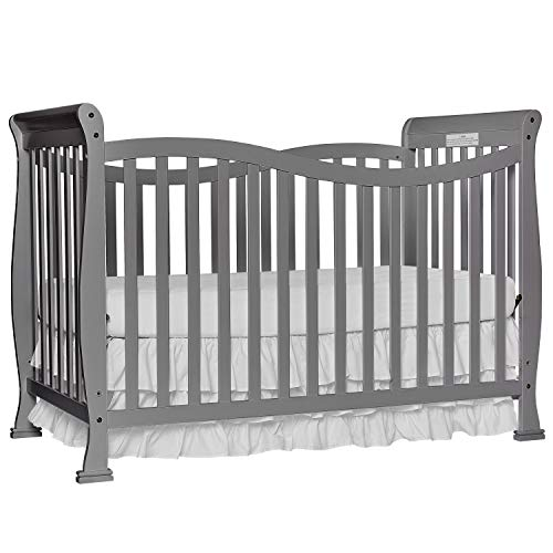 Dream On Me Violet 7-in-1 Convertible Life Style Crib, Steel Grey