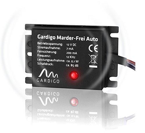 Gardigo Marder-Frei Auto/KFZ, Marderschreck, Marderabwehr, Marderscheuche, schonender Marderschutz als KFZ - Zubehör, einfacher Anschluss an 12V Autobatterie