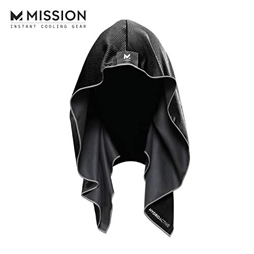 Mission Cooling Hoodie Towel- Hood Towel, Evaporative Cool...