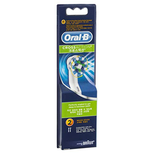 Oral-B Cross Action Replacement Electric Toothbrush Heads Refills, 2 Pack