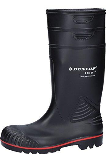 """Dunlop A442031.45 Bottes de sécurité """"Acifort Heavy Duty"""" S5 en caoutchouc, Noir, Taille 45"""