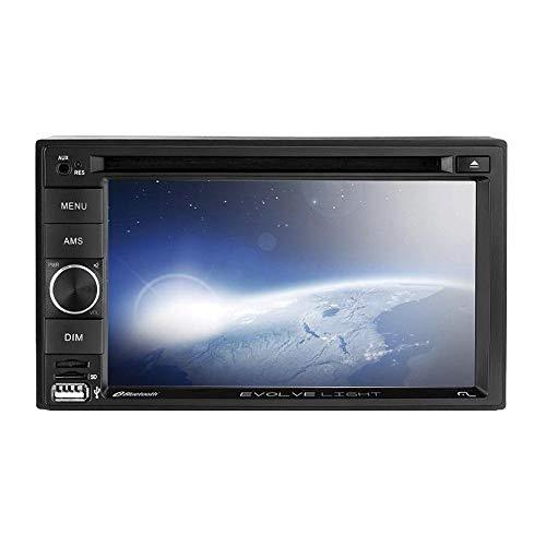 Multilaser Central Multimídia Evolve Light 6,2 Pol. 2 Din Dvd Mirror Link 4X50W Bluetooth + Rádio Fm + Am + Entrada Cartão Sd + Usb + Aux - P3321
