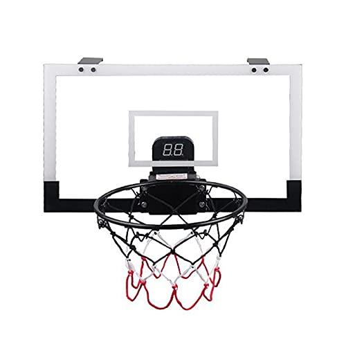 FLBTY Juego De Tablero Y Aro De Baloncesto para Niños, con Dispositivo De Puntuación Automático, Juguetes Deportivos Portátiles para Interiores Y Exteriores para Niños