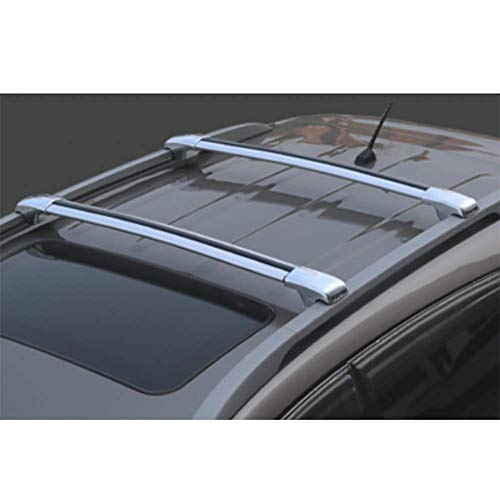 RUIX Barras De Techo - Portaequipajes De Barras Cruzadas Vehículo Todoterreno Universal Portabobinas De Aluminio SUV,Silver