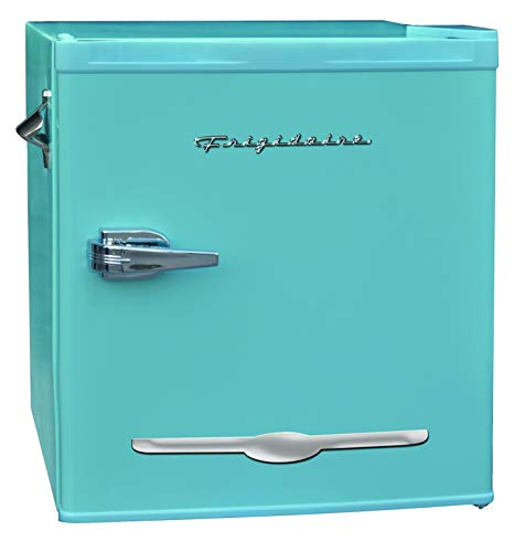 Frigidaire EFR176-BLUE 1.6 cu ft Blue Retro Fridge with Side Bottle Opener. for The Office, Dorm Room or Cabin