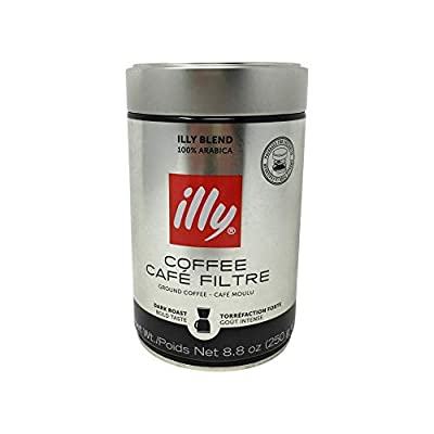 illy Dark Roast Ground Coffee for Drip Coffeemakers from illy