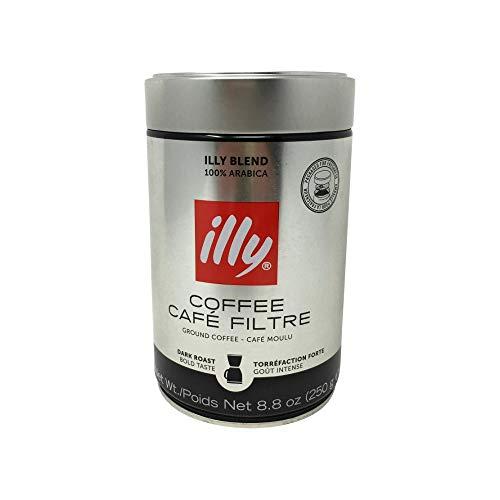 Illy Caffe Scuro Drip Dark Roast Ground Coffee