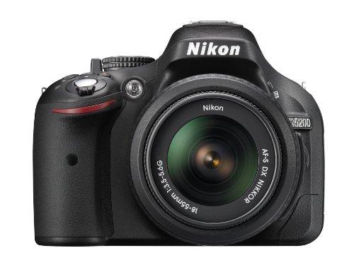 Nikon D5200 - Cámara réflex Digital de 24.1 MP (Pantalla 3', vídeo Full HD), Negro - Kit Cuerpo con Objetivo Nikkor AF-S DX 18-55 mm II f:3.5