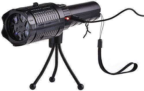 CNMGM LED-Projektor-Taschenlampe, Weihnachten Halloween-Tragbare Projektor-Licht 12 Muster-Folien Mit Stativ Für Urlaubsparty-Dekoration