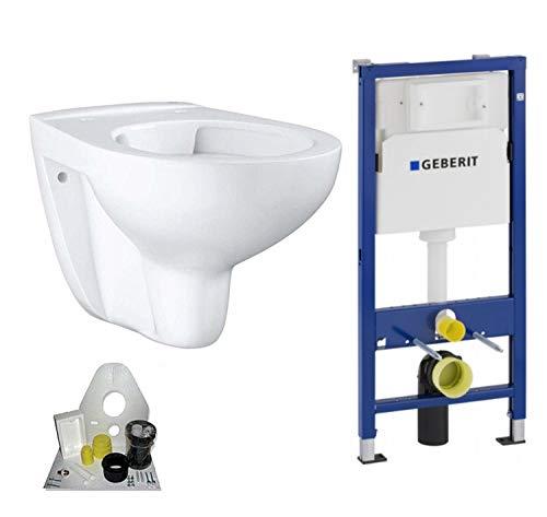 Geberit Duofix Vorwandelement mit Grohe WC spülrandlos mit Beschichtung, Komplett-Set