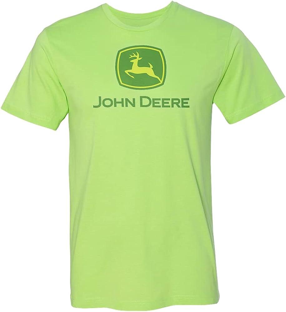 John Deere Youth Key Lime Polyester/Cotton Logo Short Sleeve Tee