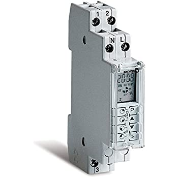 Programaci/ón Movil a trav/és de la App GR/ÄSSLIN Talento Smart B15 Interruptor Horario Digital con Interfaz Inal/ámbirco Bluetooth 4.0-1 Canal 43.02.0001.1 AC 110-230 V Montaje Carril DIN
