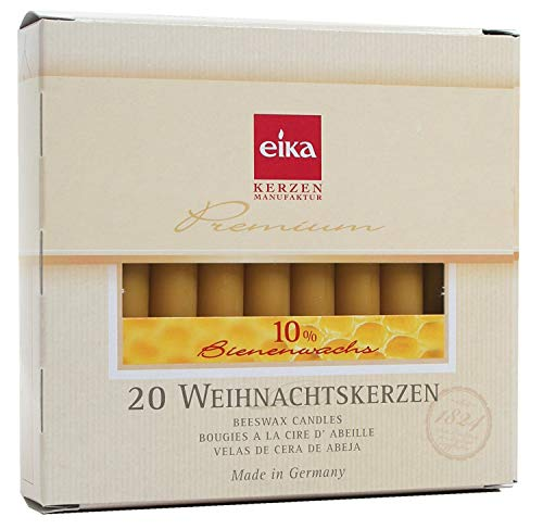 Eika Pack of 20 Tree Candles - 10% Beeswax - 10 x 1.25 cm - 10262710
