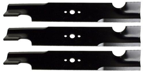 Lames de Tondeuse USA U10061BP (3) Standard High Lift pour Snapper Pro 5020843 Giant Vac 0640 Longueur 40,6 cm Largeur : 5,1 cm. Épaisseur. Trou Central : 1,8 cm. 81 cm. et 122 cm. Deck