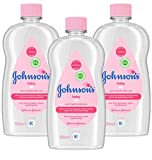 JOHNSON'S Baby Oil Multipack – Leaves Skin Soft and Smooth – Ideal for Delicate Skin – 3 x 500 ml