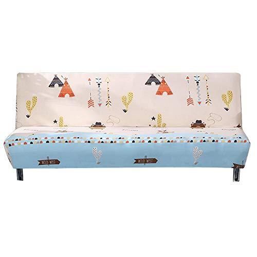 PITCHBLA No Apoyabrazos Stretch Sofá Cover Funda Fit elástico Tela Couch Sofá Protector hoja de la cubierta universal de la cubierta completa Sofá Toalla Sofá Protector (160 a 190 cm)