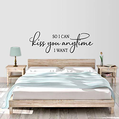 Zo kan ik je kussen, wanneer ik wil Master slaapkamer decor vinyl muur decal slaapkamer vinyl muur decal woondecoratie