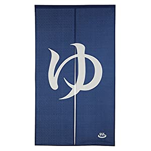 Onsen Mark Cotton Cloth Noren Curtain Tapestry Navy Blue