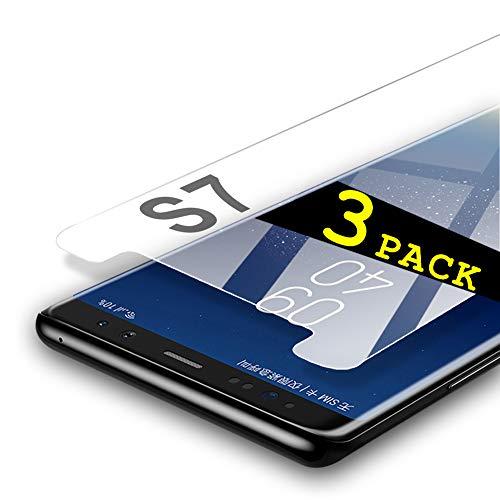 aiMaKE Galaxy S7 Panzerglas Schutzfolie, 3-Stück Displayschutz Folie Für Samsung Galaxy S7,[Blasenfrei][Einfache Installation]