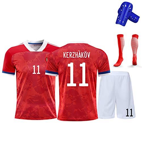 Fußball Trikot Kits T-Shirt, Arshavin Kokorin Kerzhakov, 2020 russische Nationalmannschaft Fußballtrikots, Fußballuniformen für Kinder-No.11-28#