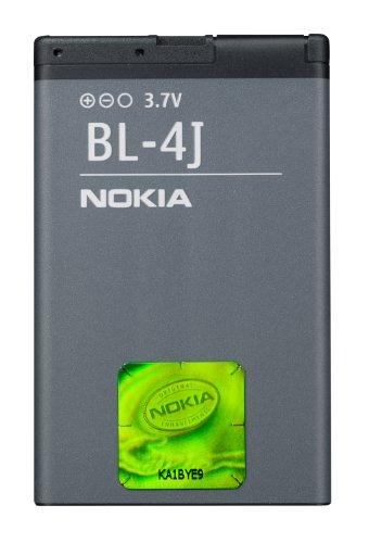 Nokia BL-4J Batteria Originale agli Ioni di Litio per Modello Lumia 620, 1200 mAh, Grigio