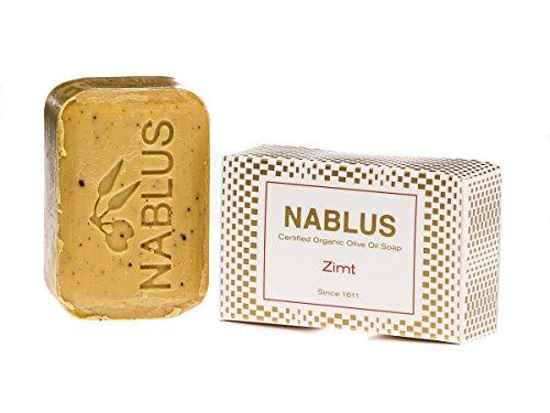 Nablus Soap natürliche Olivenölseife, Sorte: Zimt, handgemacht und palmölfrei, 100g
