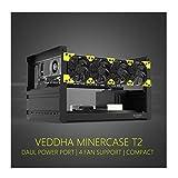 RXFSP 6/8 GPU Aluminum Stackable Open Air Mining Computer Frame Rig Ethereum Veddha (T2-6GPU+4FANS)