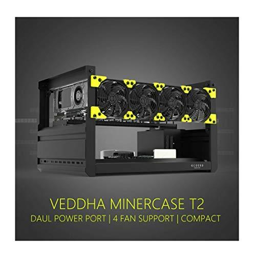 RXFSP 6/8 GPU Rig Ethereum Veddha - Tarjeta gráfica en aluminio apilable, marco abierto al aire para minar
