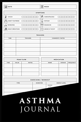 Asthma Journal: Asthma Diary Log | Symptoms Tracker for People with Asthma Symptoms Tracker with Medication Peak Flow Meter Section and Exercise ... Patients Mom Women Men Kids Grandma Grandpa