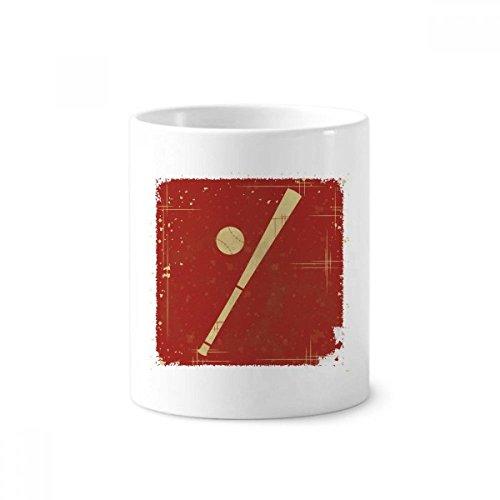 Sport Baseball Illustration rot Muster Keramik Zahnbürste Stifthalter Becher weiß Tasse 350ml Geschenk