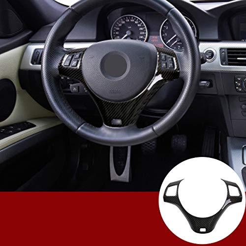 Yiwang kohlefaser Stil abs Chrom Auto lenkrad Dekoration Abdeckung für 1 3 Serie 5 tür m Sport Coupe e82 e87 e90 e93 2005-2014 Auto zubehör (kohlefaser)