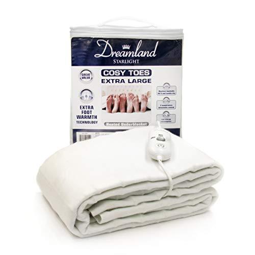 Dreamland Elektrische deken, wit, 150 x 144 cm