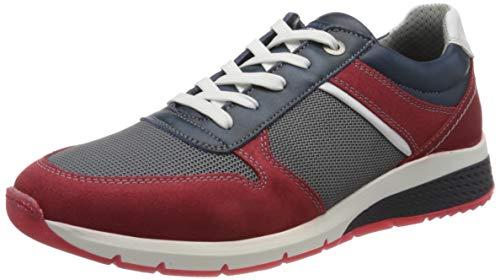 Salamander Herren TONJO Sneaker, Blau (Navy, Red/Grey 23), 45 EU