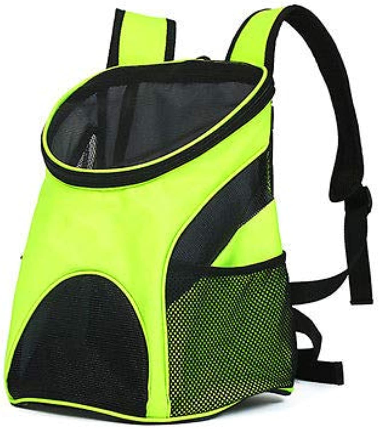 FidgetGear Outdoor Sports Breathable Mesh Backpack Pet Cat Dog Carrying Carrier Travel Tote Grass Green