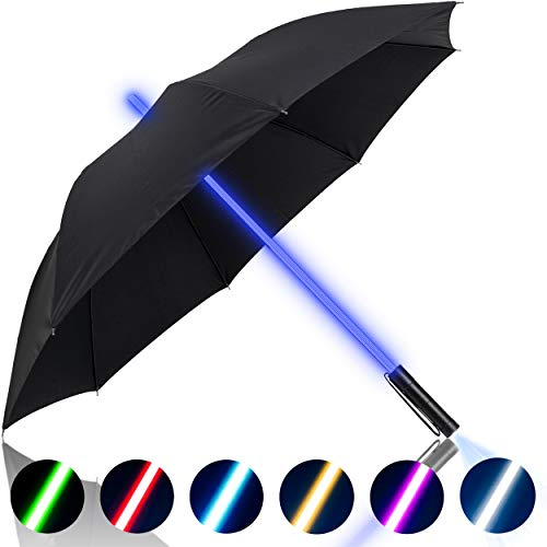 Premium Lightsaber Umbrella LED Light Up | 7 Different Shaft Colors and...