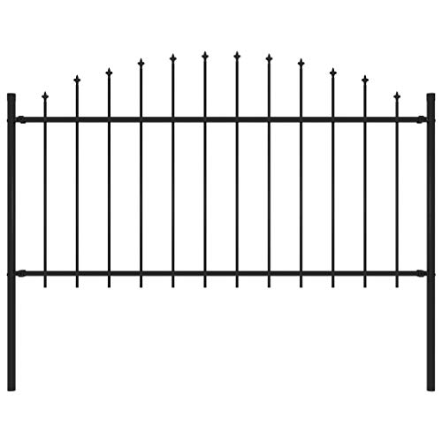 Unfade Memory Garden Fence Decorative Metal Fencing Panels with Spear Top Barriers (49.2'-59.1)
