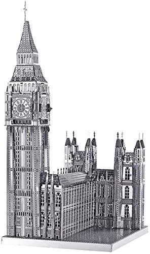ZJ Exquisite Piececool 3D-Metallmodell-Bausätze für Erwachsene – Big Ben DIY 3D-Metall-Puzzle für Erwachsene Mode