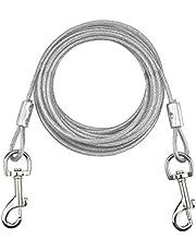 NATUCE Cable para Atar Perros, 16.4 pies / 5M de Cadena para Perros de hasta 176 Libras, Adecuado para Todas Las Razas (Blanco)