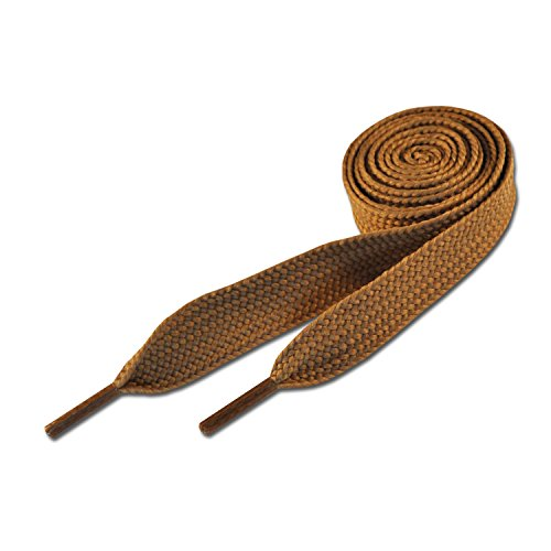 Lacets de Skate - Marron Claire 20mm x 120cm (Super Fat Light Brown Shoelaces)