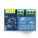 AY94ESP8266 ESP-01S 5V Módulo de relé WiFi Interruptor Remoto Aplicación de teléfono Kit de diseño de Proyecto Socket Inteligente para Arduino (Azul) (Togames)
