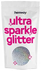 ★ No.1 Trade Multi-Purpose Premium Glitter ★ Hemway Premium Unique Multi-Purpose Glitter is specifically designed, quality (Grade A) for the use with Glass, Art, Nail, Floristry, Body Art, On skin usage, Hair, Face, Nails, Makeup, Flowers, Beards, Ca...
