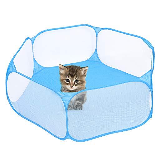 OKAT Parque para Mascotas, Tela fácil de Usar + Espacio de Metal Transpirable para Gatitos con Bolsa de Almacenamiento para Interior/Exterior