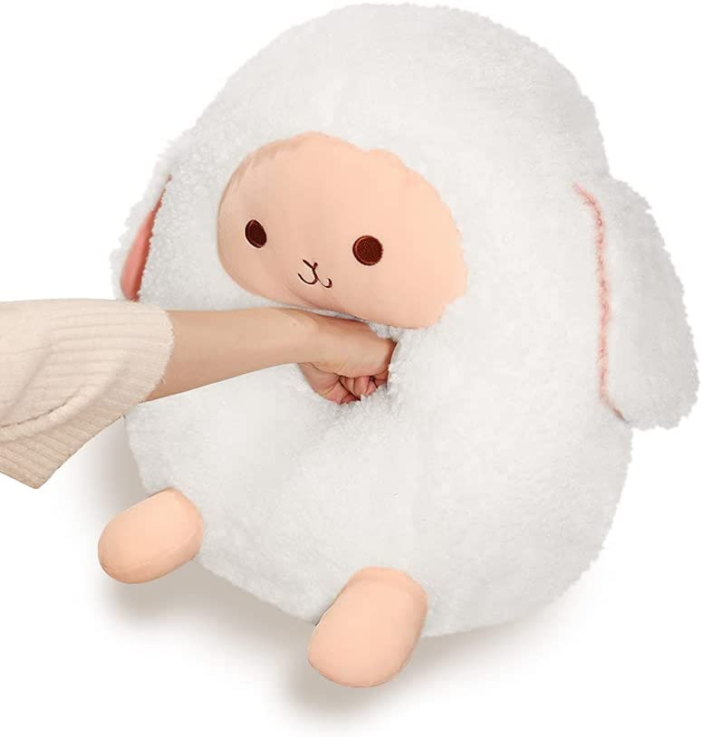 Large Lamb Chubby Buddy Squishy Pillow Ani Stuffed Genuine Sheep 16 Inch 2021new shipping free