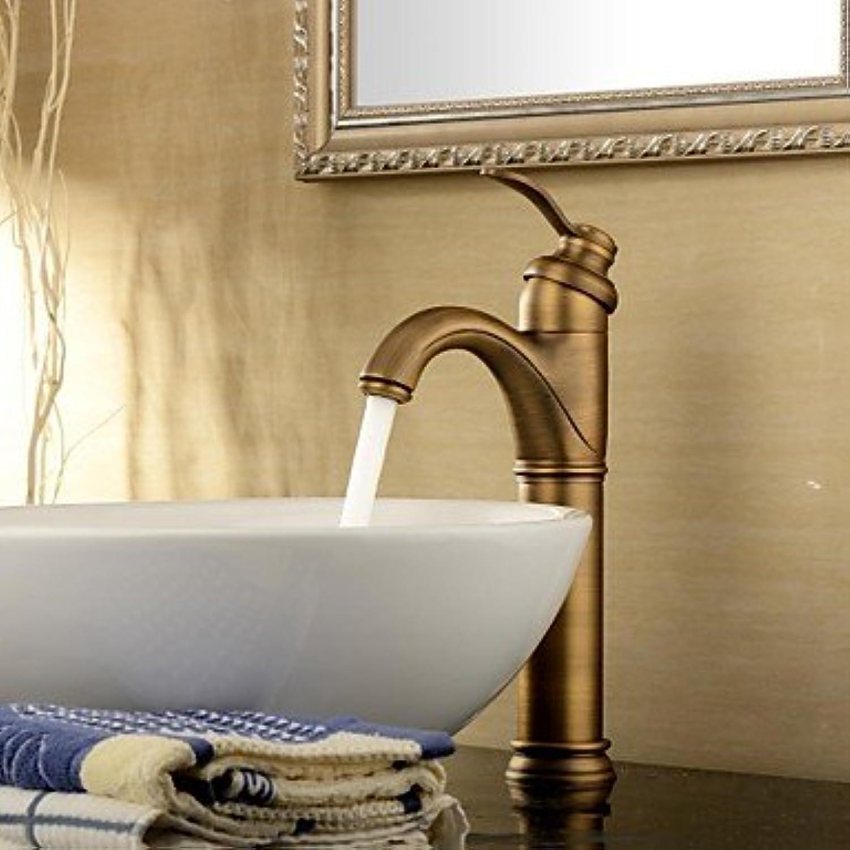 Lozse Bathroom Sink tap Antique Inspired Design-Antique Brass Finish tap Single Handle